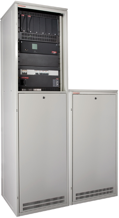 Intelepower CXS110 45RU Power Cabinet and 27RU Battery Cabinet
